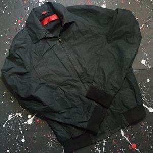 Hugo Boss | vintage black nylon jacket (red label)